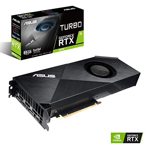 Price comparison product image ASUS GeForce RTX 2070 Turbo 8GB Graphics Card - Black