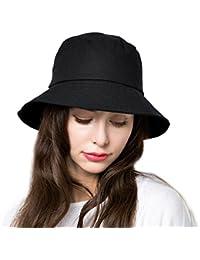 Bucket Hat Womens Summer Sun Hats Foldable Wide Brim UV Protection Safari  Fisherman Beach Pool Caps 8bba93bca32f