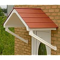 Astor copertura per pioggia Shelter ombra copertura anteriore portico facile DIY Apex tendone bianco/marrone (terracotta Tiled),