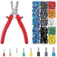 INSMA Crimpzangen set Kabelschuhzange Crimpzangen Crimpzange Presszange für Kabelschuhe Crimper Zange für Aderendhülsenzange von 1.5~6.0mm² mit 800 stück Kabelschuhe Crimpwerkzeug (AWG: 10~23)