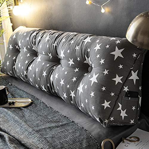 HSMM Dreieckiger Keil Kissen,lesen Kopfkissen,große Weiche Kopfteil,weich Baumwolle Double Schlafzimmer Abnehmbare Multi-funktions-c 40x180cm(16x71inch) -