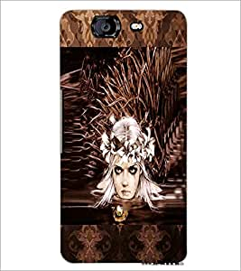 PrintDhaba Crying Girl Face D-3028 Back Case Cover for MICROMAX A350 CANVAS KNIGHT (Multi-Coloured)