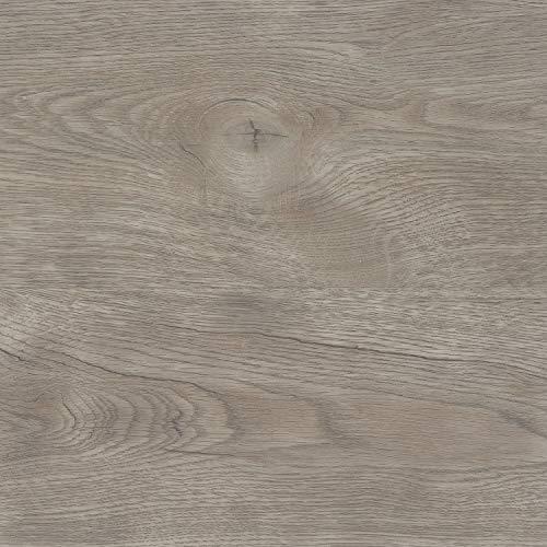 TRECOR Klick Vinylboden RIGID/Designboden Massivdiele 5 mm stark mit 0,5 mm Nutzschicht - WASSERFEST - Sie kaufen 1 Musterstück mit ca. 35 cm Länge - (Vinylboden Musterstück, Eiche Nevada) -
