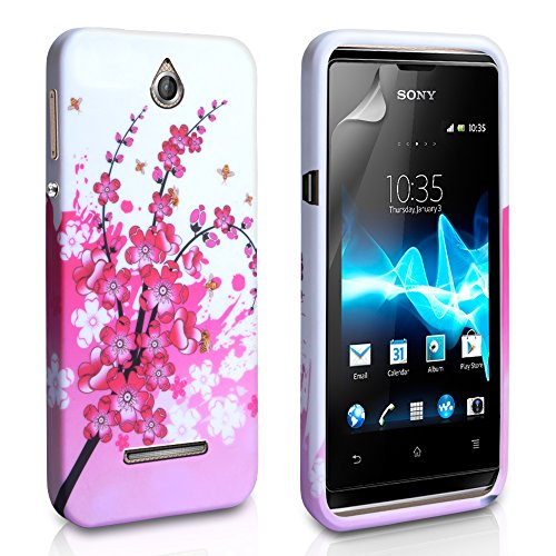 Yousave Accessories® Silikon Gel Schutzhülle für Sony Xperia E-Floral Bee - Bee Floral