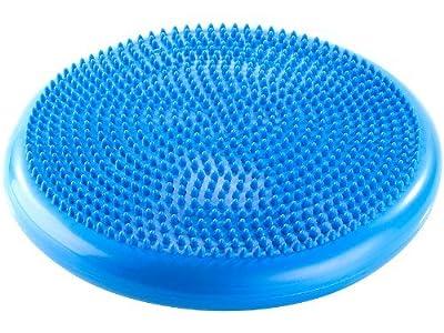 mediAID Balance-Kissen / Pilates-Kissen / trainiert Gleichgewicht und Koordination, Durchmesser: 33cm, blau
