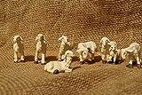 Schafe 7 teilig handbemalt für 7-9cm Figuren aus Polystonematerial