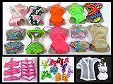 21 Piece Barbie Doll Set (1) Dresses, Bikini's, Nightwear, Shoes & Hangers By Milly's Shop