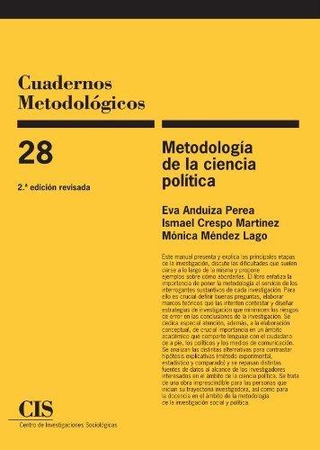 Metodología de la ciencia política, 2a ed (Spanish Edition) by Eva Anduiza Perea (2009-06-30)