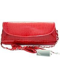 Missy K piel de cocodrilo con relieve funda de piel sintética bolsa de embrague + kilofly pinza para billetes