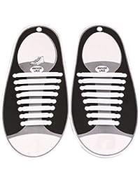 The Friendly Swede Pack de 5 Cordones Elásticos para Zapatos Sin Atar (120 cm) - Cordones de Bloqueo con Inserciones Reflectantes GARANTíA DE POR VIDA 68U7z5ZRN7