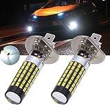 TUINCYN - Bombilla superluminosa LED H1 SMD 78 3014 de 900 lúmenes, universalmente utilizada en faros antiniebla y luces de circulación diurna de automóviles, de 12 a 24 V de CC, 4 W (2 unidades)