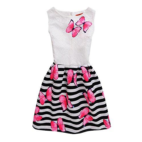 Mädchen Kleid Damen IHRKleid® Süß Tochter Mama Kein Ärmel Kleid Schmetterling Drucken Mode Self-Anbau Kleid (Mutter: XL (Asien Größe), Style (Tochter Kostüme Mama)