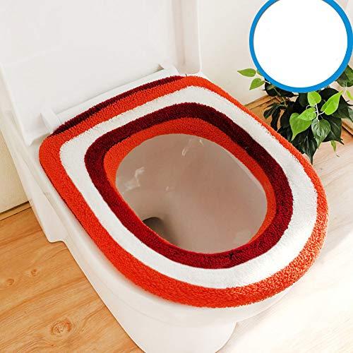 Zflin - set di 2 tavolette per wc, per aumentare lo spessore, quadrate, o-u, universali, panno, orange, misura 0.00watts