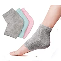 Binoster Vented Moisturizing Lotion Gel Heel Socks Open Toe Socks for Dry Hard Cracked Skin Moisturizing Day Night Care Skin,3 Colors