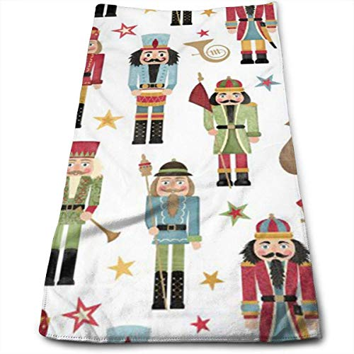 Strandtücher, Sports Towel, Nutcracker Christmas Tree Star Multi-Purpose Microfiber Towel Ultra Compact Super Absorbent and Fast Drying Travel Towel Beach Towel Perfect for Camping, Gym, Swimming.