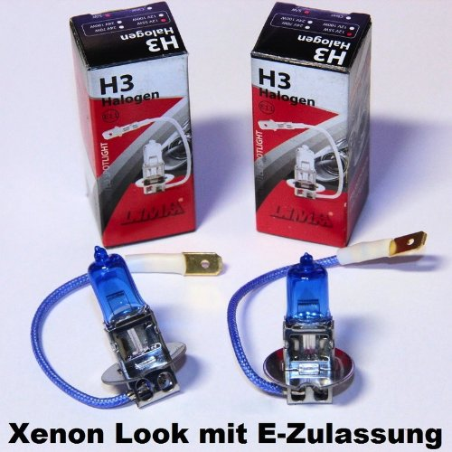 2 x LIMA H3 Xenon Look 12V 55W Halogen Lampe super weiss