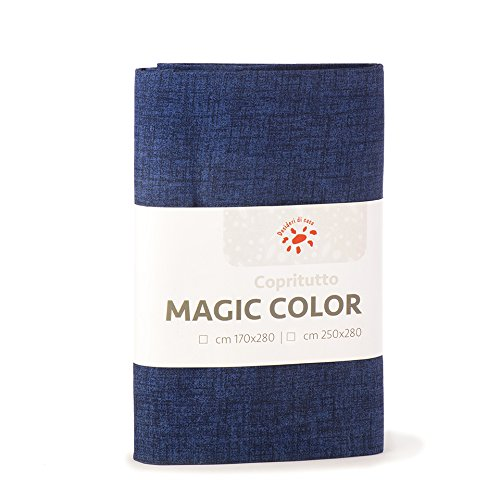 Desideri di casa magic telo copritutto, 60% cotone 40% poliestere, blue navy, 250x280,