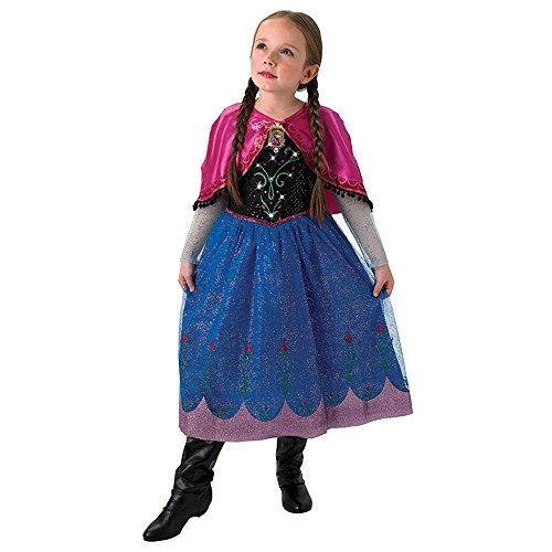 Kostüm Up Kind Light Hexe - Rubie's Disney Eiskönigin Kinder Kostüm Prinzessin Anna Light Up Gr.L(7-8J.)