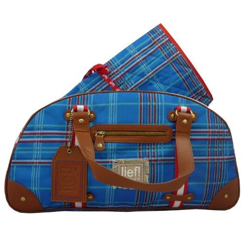 Lief post package check diaper bag cobalt mit Tragegurt und Wischelauflage