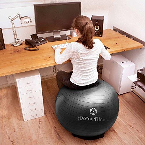 Gymnastikball »Orion« / Robuster Sitzball und Fitnessball von 55cm 65cm 75cm & 85cm inklusive Ballpumpe! / 65 cm / schwarz - 5
