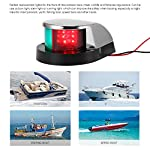 ALLOMN Boat Navigation Light 12V LED Navigation Lamp Red and Green Marine Light for Boat Yacht Stainless Steel Bow… 14
