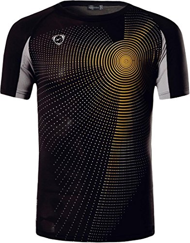 Sportides Boy's Quick Dry Active Sport Short Sleeve Breathable T-Shirt Casual Tee Top LBS702 Black M