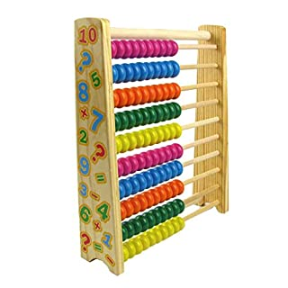 Bobury Wood Colorful Beads Calculate Abacus Wooden Math Toy Learning Numbers for Baby Infant Early Educational