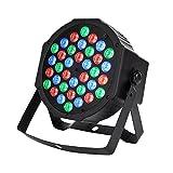 #5: CITRA DJ Lights 36 LEDs DMX 512 RGB Color Mixing Wash Can Par Light for Disco Diwali Christmas Wedding Party Show Live Concert Stage Lighting (Black) (BLACK)
