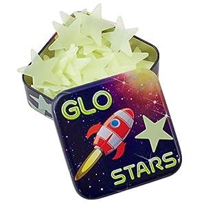 Glo Stars - Pegatinas para pared y cristal (Cheatwell Games 16108) Importado de Inglaterra