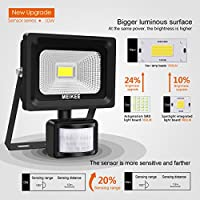 MK Security Lights with Motion Sensor, 10w Led Sensor Outdoor light, IP66 Waterproof Security Lighting, High Output 1000lumen, Super Bright LED PIR Floodlight, Ideal for Garden, Car park, Hotel and Forecourt, Daylight White by MEIKEE