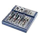 ammoon Profi Metall Mixer / Mischpult, 4Live-Kanäle, 3-band EQ, USB-Funktion, 48V, Phantom mit...