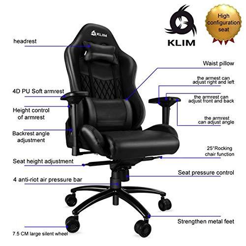 KLIMTM Esports - Chaise Gamer Très Haute Qualité - Finitions Soignées - Ajustable - Ergonomique - Inclinable - Confortable - Siege Bureau - ... 11