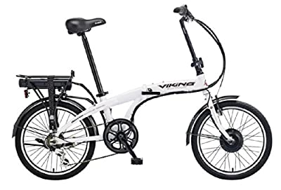 Viking Harrier Electric Folding Bike - White, 14-Inch