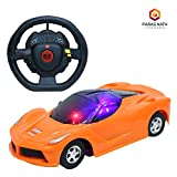 #5: PNT Two Function Radio and Remote Control (1:22) Scale Orange Colour Sports Car with Forward, Backward Function and Attractive 3D Light.