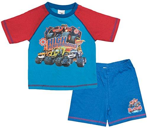 r Machines Jungen Schlafanzug mehrfarbig multi Gr. S, High Performance - Blazing Speed (Fleece Pjs Für Kinder)
