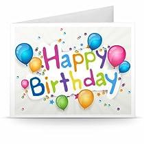 Amazon.de Gutschein zum Drucken (Happy Birthday Ballons)  Von Amazon EU S.à.r.l.