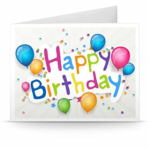 Amazon.de Gutschein zum Drucken (Happy Birthday Ballons)