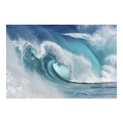 Bilderwelten Fotomural Premium - Fieras Ondas del Mar - Mural apaisado papel pintado fotomurales murales pared papel para pared foto 3D mural pared barato decorativo, Tamaño: 320cm x 480cm