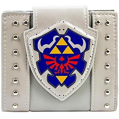 Legend of Zelda Hylian Shield Studs gris Portefeuille