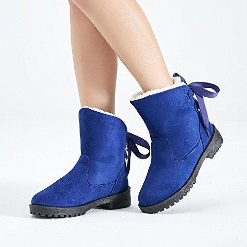 Snow Boots taglie stivali inverno caldo cashmere skid scarpe di cotone blue