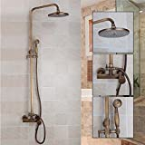 Makej Luxuriöses Badezimmer Regen Duschkopf Antiken Brasas Wand Bodenwanne Swivel Panel Mischbatterien Dusche Armaturen