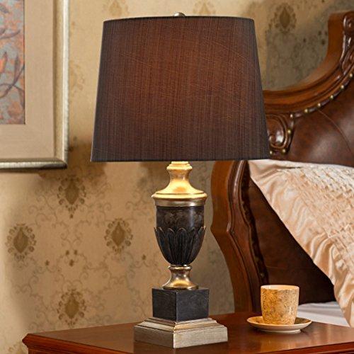 personnalité simple Style américain rural lampe de table chambre lampe de chevet salon rétro chaleureux Creative ( Couleur : Marron )