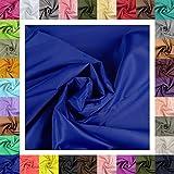 maDDma 5m Futterstoff Breite 148cm, Farbwahl, Farbe:blau