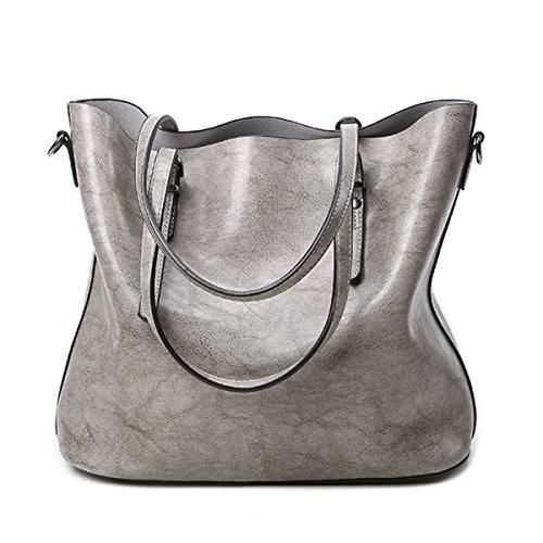 Borsa A Tracolla Tote Bag Da Donna Retro Elegante Borsa A Tracolla In Pelle PU Borsa Da Donna A Tracolla In Pelle Gray