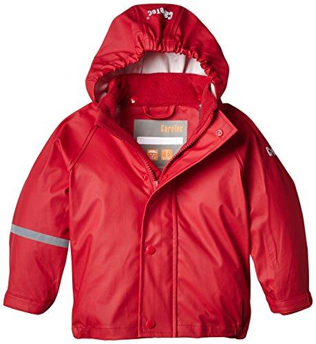 CareTec Kinder wasserdichte Regenjacke (verschiedene Farben), Rot (Red 402), 86
