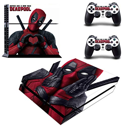Decal Moments Regular PS4 Konsole Set Vinyl Skin Sticker Sticker Schutz für PS4 Playstaion 2 Controller Deadpool