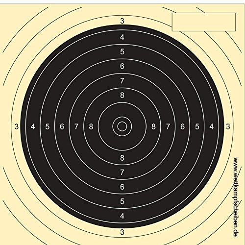 1000 Cibles carabine 50 m 13,5 cm