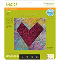 accuq uilt Matrice Verres Forme de cœur mercerie, Plastique, Gris/Vert, 30,5x 26,5x 1,8cm
