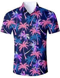 Goodstoworld Camisa Hawaiana para Hombre Mujer Casual Manga Corta Camisas  Playa Verano Unisex 3D Estampada Funny 93dfecc0f11