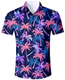 Goodstoworld Herrenhemd Kurzarm Palme Hawaii Style Outdoor Hemd Herren Modern Hawaiihemd Männer Retro Rockabilly Shirt